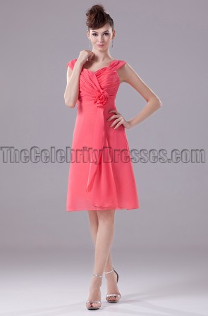 Short Watermelon Homecoming Party Graduation Dresses
