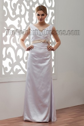 Simple Floor Length V-Neck Bridal Gowns Wedding Dress