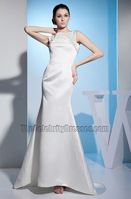 Simple Mermaid Sleeveless Sweep/Brush Train Wedding Dress