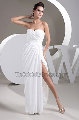 Simple Strapless Floor Length Wedding Dress Bridal Gown