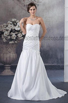 Simple Strapless Sweetheart Trumpet/ Mermaid Wedding Dresses