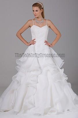 Spaghetti Straps A-Line Organza Wedding Dresses