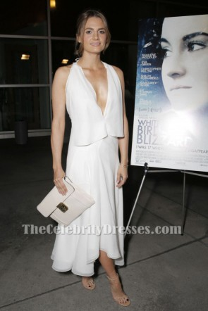 Stana Katic Sexy Evening Dress White Bird In A Blizzard Premiere