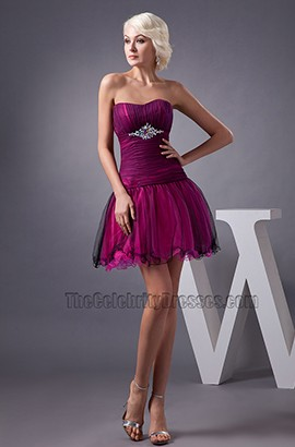 Discount Strapless A-Line Short Mini Homecoming Party Dresses