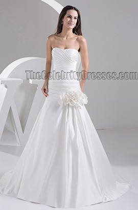 Strapless Sweetheart A-Line Sweep/Brush Train Wedding Dress Bridal Gown