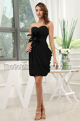 Strapless Sweetheart Little Black Cocktail Party Dresses