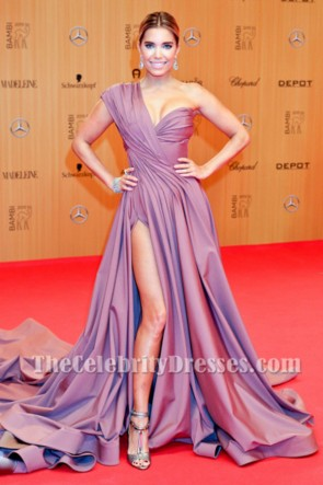 Sylvie Meis One Shoulder Formal Dress 2015 Bambi Awards Red Carpet TCD6476