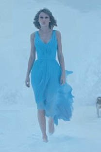 Taylor Swift Blue Prom Dress Video Film Clip 'out of the woods' TCD6569