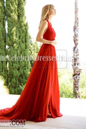 Taylor Swift Red Halter Prom Dress Cover of Delta Sky magazine