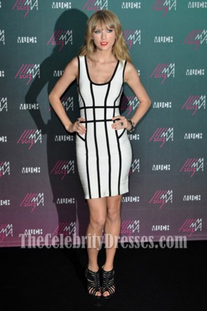Taylor Swift White Bandage Cocktail Dress Canadian MuchMusic Video Awards