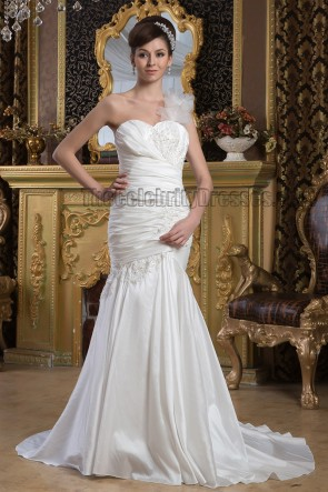 Trumpet/Mermaid One Shoulder Sweetheart Wedding Dresses