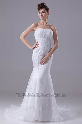 Trumpet/ Mermaid Strapless Sweetheart Organza Wedding Dresses