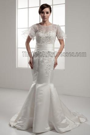 Trumpet/Mermaid Chapel Train Wedding Dresses