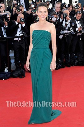 Virginie Ledoyen Green Prom Dress 65th Cannes International Film Festival Red Carpet