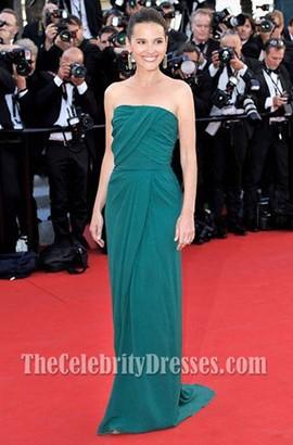 Virginie Ledoyen Green Prom Dress 65th Cannes International Film Festival Red Carpet