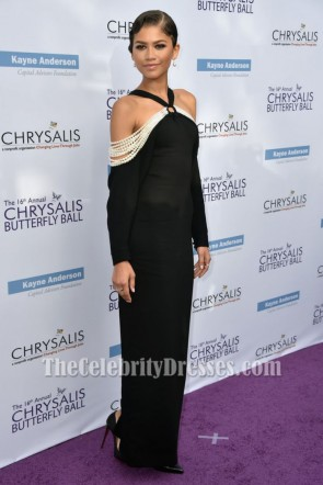 Zendaya Coleman Black Evening Dress 16th Annual Chrysalis Butterfly Ball TCD7266