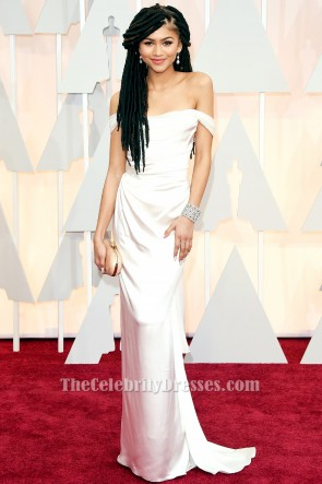 Zendaya Coleman Ivory Prom Formal Dress 2015 Oscars Red Carpet TCD6060