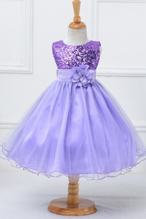 Ball-Gown Sequins Flower Girl Dress