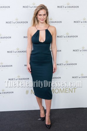 Bar Refaeli Black Form-Fitting Party Dress Moet & Chando Party 2
