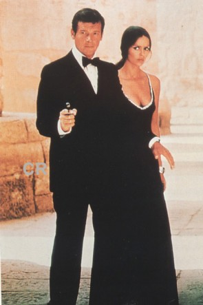 Barbara Bach Black Prom Dress 1977's The Spy Who Loved Me 007