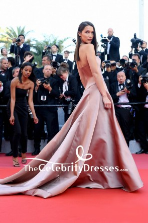 Bella Hadid Strapless Ball Gown 2018 Cannes Film Festival Red Carpet TCD7866