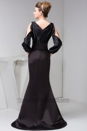 Women Long Sleeves Formal Gown Evening Dresses