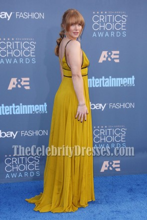Bryce Dallas Howard Spaghetti Straps Empire Evening Prom Gown 22nd Annual Critics' Choice Awards TCD7043