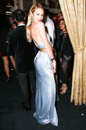 Candice Swanepoel Spaghetti Straps Evening Prom Gown Harper's Bazaar Icon TCD6905