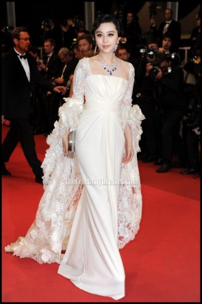 Celebrity Dresses Fan Bingbing White Prom Dress Cannes Film Festival 2011