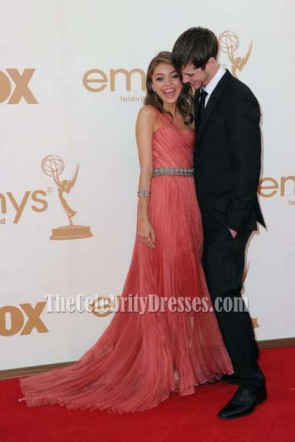 Sarah Hyland One Shoulder Prom Gown Formal Dress 2011 Emmy Awards