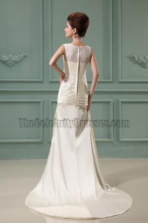 Sheath Column Ivory Long Prom Dress Evening Gowns