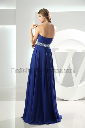 Royal Blue Sweetheart Prom Dress Formal Evening Dresses