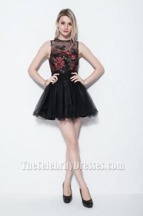 Celebrity Inspired Sleeveless Little Black Dress Mini Party Dresses