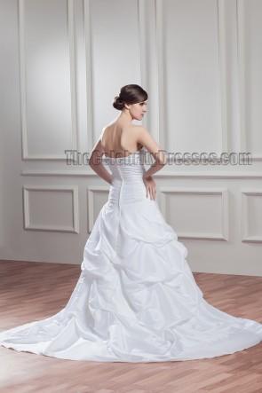 Chapel Train Strapless Sweetheart A-Line Wedding Dress