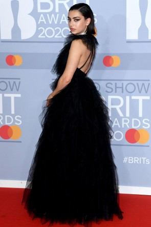 Charli XCX Black Princess Formal Gown 2020 BRIT Awards TCD8874