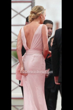 Charlize Theron Sexy Prom Evening Dress 2012 Golden Globes Awards Red Carpet Gown