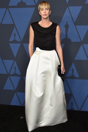 Charlize Theron Two-tone Ball Gown 2019 Governors's Awards
