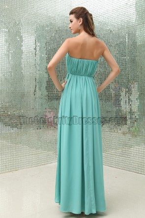 Discount Strapless Chiffon Bridesmaid Dresses Prom Gown