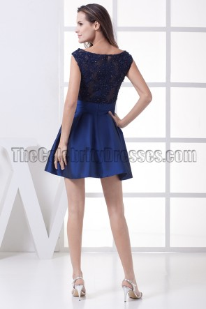 Dark Royal Blue Short Mini Homecoming Party Dresses