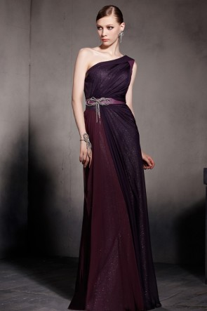 Chic One Shoulder Floor Length Evening Prom Dresses