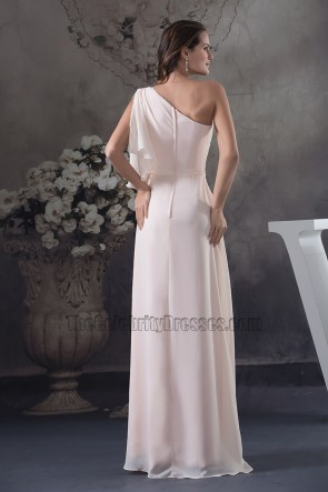 Chic One Sleeve Chiffon Floor Length Prom Gown Evening Dress