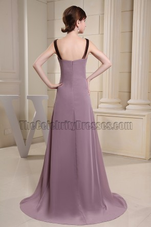 Chic Scoop Neckline Chiffon Prom Dress Formal Dresses