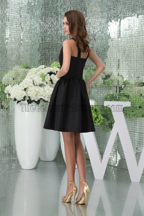 Chic Short Black A-Line Party Graduation Little Black Dresses