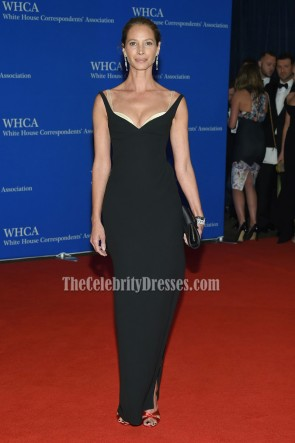 Christy Turlington Burns Black Backless Evening Formal Dress 2016 White House Correspondents' Association Dinner  1