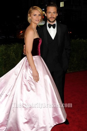 Claire Danes Satin Formal Dress Ball Gown 2014 Met Costume Institute Gala