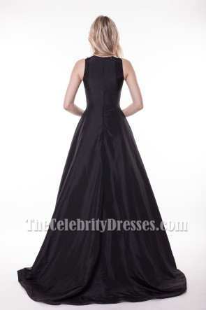 Classic White And Black A-Line Formal Dress Evening Gowns