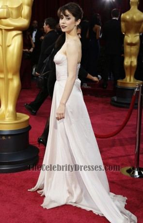 Cristin Milioti Strapless Formal Celebrity Dresses Oscars 2014 Red Carpet TCD6107