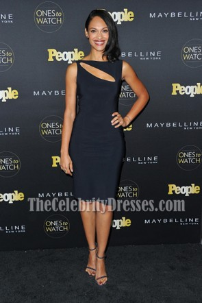 Cynthia Addai-Robinson Little Black Dress Cutout Cocktail Dress People Ones to Watch 2016 2