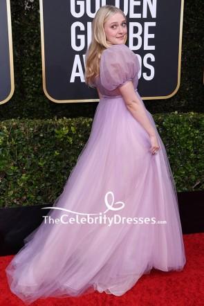 Dakota Fannin Lilac Princess Formal Dress 2020 Golden Globes TCD8810