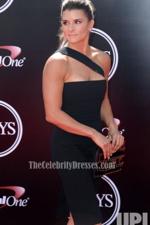 Danica Patrick Sexy Short Black One Shoulder Party Dress 2016 ESPYS TCD6755